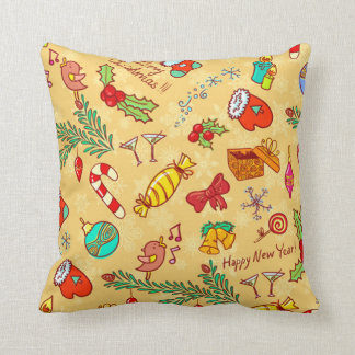 Merry Christmas And Happy New Year Cushion