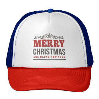 Merry Christmas and Happy New Year Hat