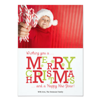 Merry Christmas and Happy New Year Holiday Card 13 Cm X 18 Cm Invitation Card