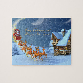 merry christmas and happy new year jigsaw puzzle