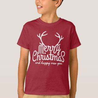 Merry Christmas and Happy New Year kid Shirt