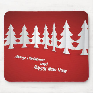 merry christmas and happy new year mouse pad