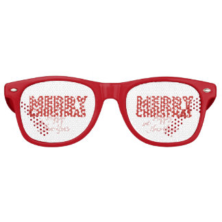 Merry Christmas and Happy New Year Retro Sunglasses