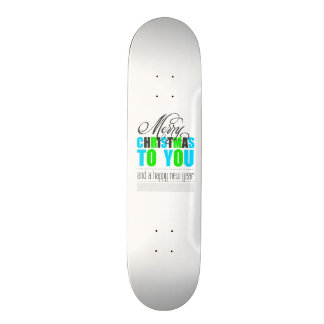Merry Christmas and happy new year Skate Board