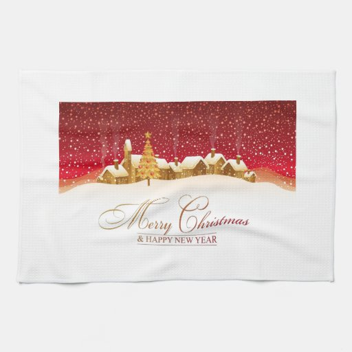 Merry Christmas and Happy New Year Hand Towel