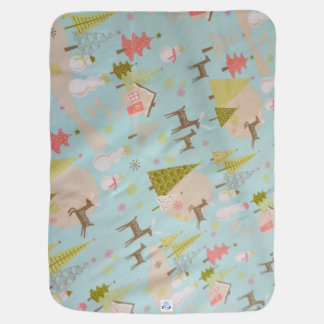 merry christmas and happy new year swaddle blankets