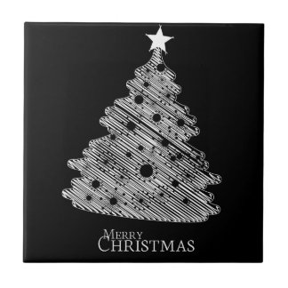 merry christmas and happy newyear small square tile