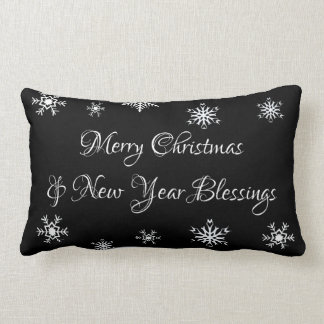 Merry Christmas and New Year Blessings Pillow