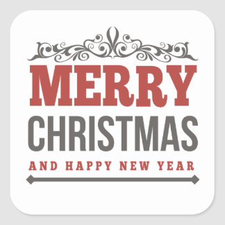 Merry Christmas and  New Year Greeting Stickers