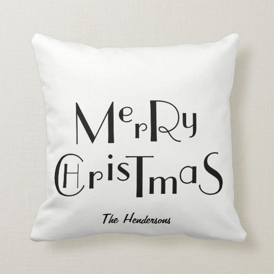 Merry Christmas and Personalised - Cushion