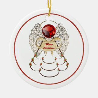Merry Christmas Angel Ornament