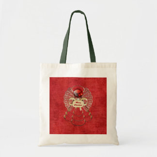 Merry Christmas Angel - Red Tote Bag