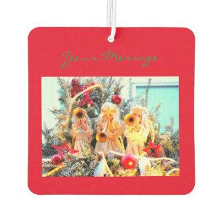 merry christmas angels car air freshener
