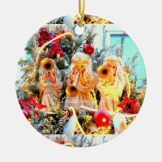 Merry Christmas angels customized Christmas Ornament