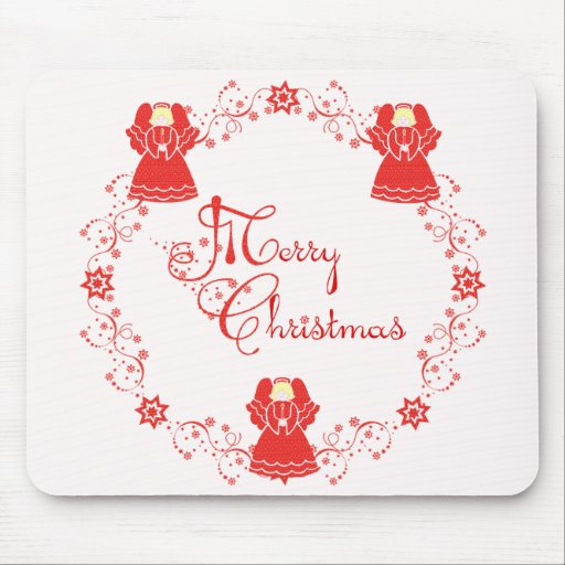 Merry Christmas Angels Mousepads