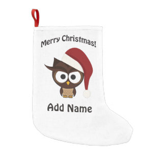 Merry Christmas Angry Owl Small Christmas Stocking