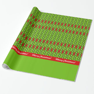Merry Christmas! Argyle Stripes Red & Green Custom Wrapping Paper