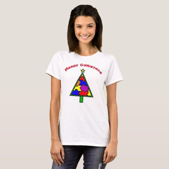 Merry Christmas Autism Tree t-shirt