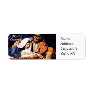 Merry Christmas Avery Label Return Address Label