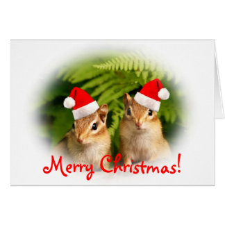 Merry Christmas Baby Chipmunks Card