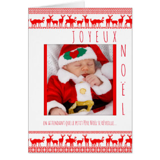 Merry Christmas Baby Father Christmas Chart with Card