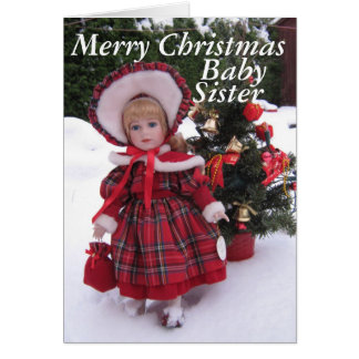 Merry christmas, Baby sister Card