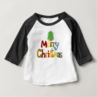 'Merry Christmas' baby t-shirt