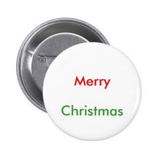 Merry , Christmas 6 Cm Round Badge