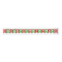 Merry Christmas Banner Satin Ribbon