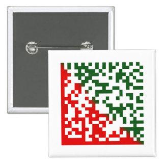 Merry Christmas Barcode Button