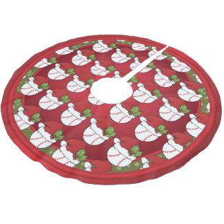 Merry Christmas  Baseball Lovers Brushed Polyester Tree Skirt
