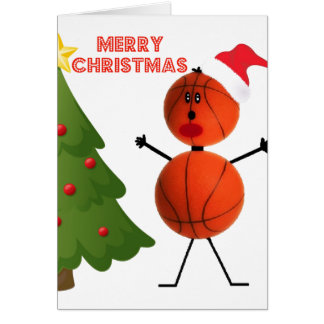 Merry Christmas Basketball Card