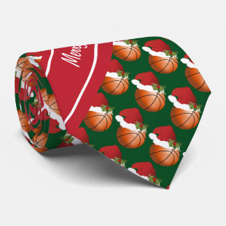 Merry Christmas Basketball Tie