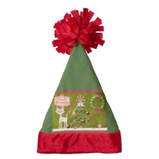 Merry Christmas Baubles Santa Hat