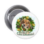 Merry Christmas Beagle 6 Cm Round Badge