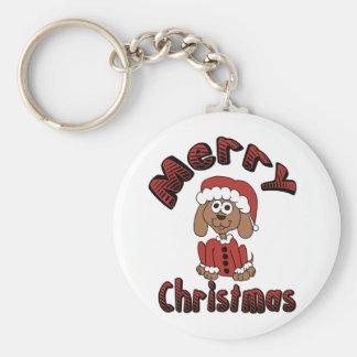 Merry Christmas Beagle Key Chain