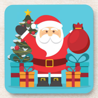 Merry Christmas Bear Coaster
