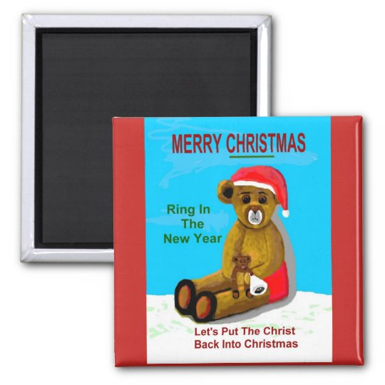 Merry Christmas (becabear style) Magnet