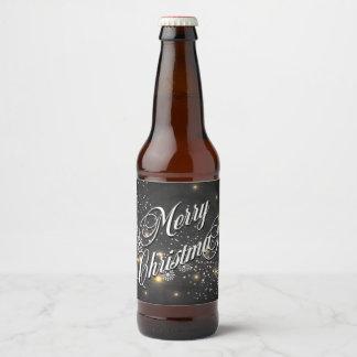 Merry Christmas Beer Bottle Label