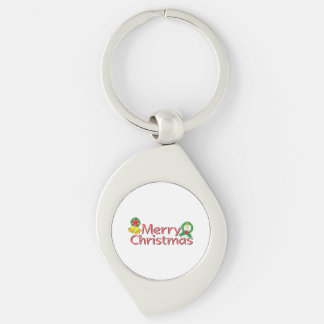 Merry Christmas Bell Lantern Wreath Candle Buttons Key Chain