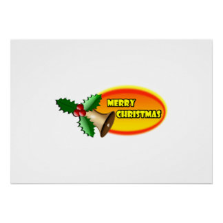 Merry Christmas Bell Posters