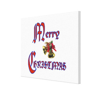 "Merry Christmas bell Wrapped Canvas 24x24"" Stretched Canvas Prints"