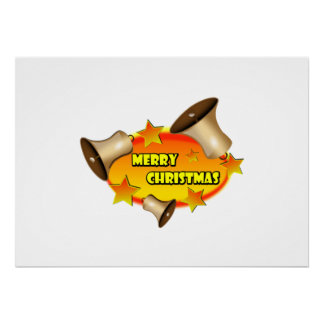 Merry Christmas Bells Posters