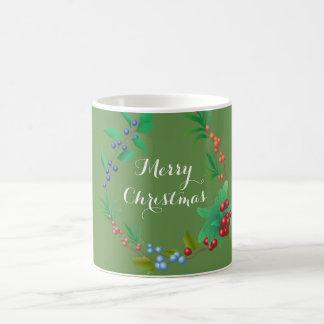 Merry Christmas Berry Wreath 11 oz Classic Mug