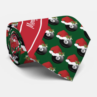 Merry Christmas Billiards Tie