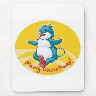 Merry Christmas Bird Mouse Pad