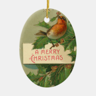 Merry Christmas Bird Ornament