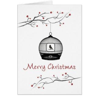 Merry Christmas Birdcage Cards