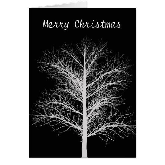 Merry Christmas  Black and white Card