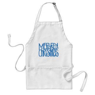 Merry Christmas blue Apron